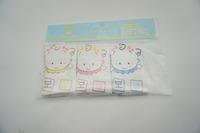 3 pieces 100% cotton 8x8inch  baby face towel milk towel