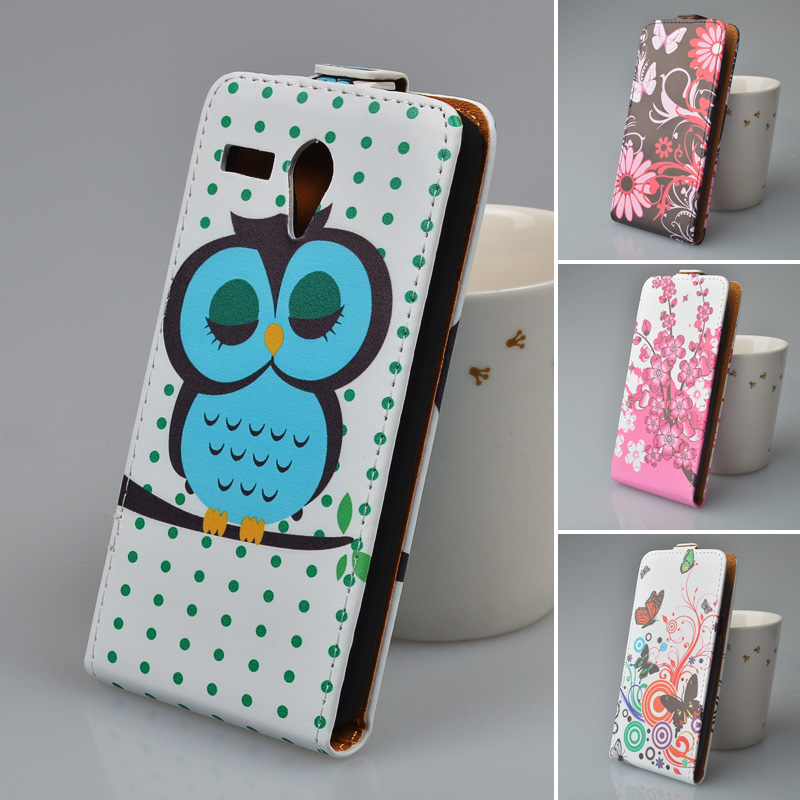 Printing Leather Case For Lenovo A606 Flip Cover Phone Bag 5 Colors in Stock(China (Mainland))