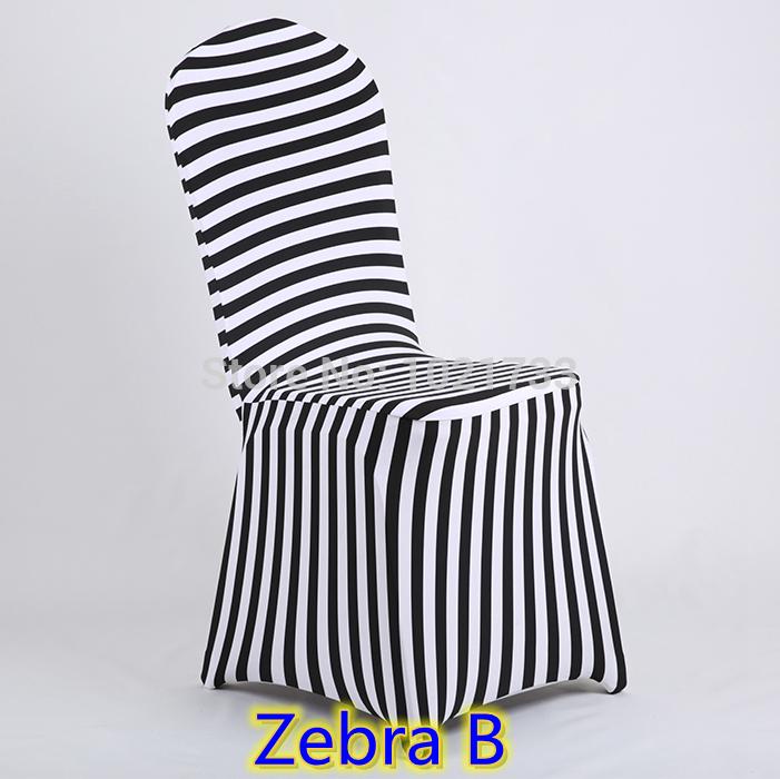 Housses de chaise pour chaises en plastique zebra - Housses pour chaises ...