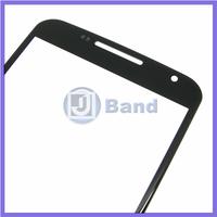 50pcs/lot Black Repair Part Replacement Outer Front Screen Glass Lens Panel For Motorola Moto G2 XT1063 XT1068 XT1069 DHL/Fedex