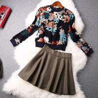 2014 news high quality Retro elegant suit jacket, skirt suits