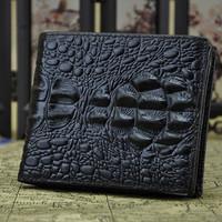 2015 New Alligator Wallet High Quality Vintage Design short Men's Genuine Leather Wallet/Purse Card Holder
