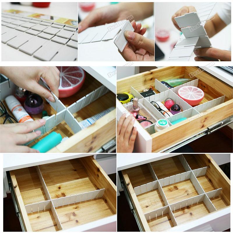 [해외]ChicAngel 6PCS DIY 플라스틱 홈 그리드 서랍 디바이더 ..