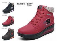 2014 fashion autumn winter women cotton shoes flange tonetm skylar wedge sneakers Casual brand platform shoes snow boots   X626