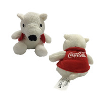"Polar Bear Plush 4'' x 2.4"" Stuffed Animal Christmas"