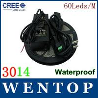 Waterproof 5M SMD3014 600Leds LED strip light DC12V warm red green bule yellow 120leds/m and 12V6A Power supply US EU UK AU