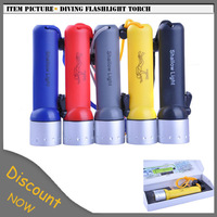 Free Shipping CREE Q5 LED Underwater Diving Flashlight Torch LED Light Waterproof Lamp