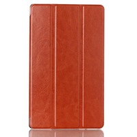 High quality leather shell case flip cover protective skin for Lenovo Tab S8-50 tablet PC 8 inch