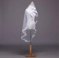 2015 New 100% Real Picture Lace Edge 1.5M Long Vintage Wedding Veil/bridal veil/bridal accessories/head veil WDTS006