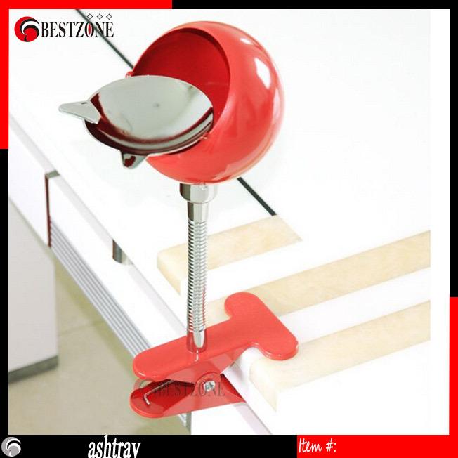 ashtray of Can bend metal, clip twisted flip flip cover ashtray, creative ashtray desktop and deskside ashtray trash can(China (Mainland))