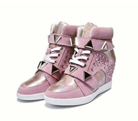 The spring and autumn period and the new leather female with 2015 High for shoes leisure The increased Platform shoes free mail