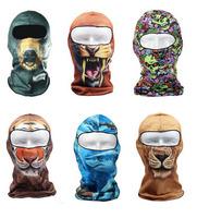 Wholesale 35pcs/lot Balaclava Facemasks Facekini Mens Biker Face Mask Beanie Designer Summer Sports Motorbike Camo Full Masks
