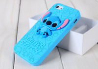 2015 Brand 3D Cartoon Stitch Soft Slicon Rubber Children Gift Case Cover For Apple Iphone 4 4s 5 5s 6 6plus Phone Shell