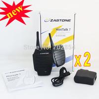 2pcs/lot New arrived small size walkie talkie  Mini talk 7 zastone .5w prortable FM transceiver wireless microphone radio