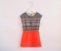 NEW ! Girl's summer striped vest dress , baby dresses , costume for girls , 5pcs/lot   XGL22