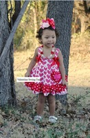 baby new valentine swing tops swing outfits with matching necklace and bows