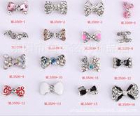 2015Fashion Preciosa Crystal nail charms200pcs/lot 3D Bow Tie Alloy Rhinestone Multicolor Nail Jewelry for nail gel(ML3501-3520)