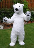 Hot selling 2015 Adult polar bear  Mascot Costume Adult Size Fancy Dress Halloween animal costumes
