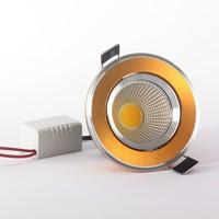 Free shipping spot led 5W 7W 9W 12W 15W light fixtures silver / black / gold shell 110v120v220v230v240v luminaria