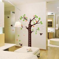 Big Cartoon Height Tree Wall Stickers for Kids Room 3D DIY Acrylic Crystal Tree Birds Stickers Children Room Wall Decoration