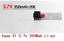 Free Shipping syma X1 2 4G 4 channels RC quadcopter 3 7 V350 Mah Li po