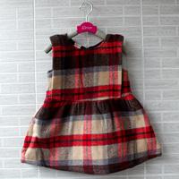wholesale(5pcs/lot)- 2015 spring autumn sleeveless plaid child girl dress