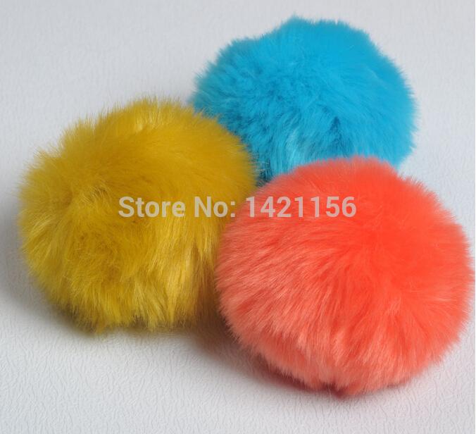 Cheap! DIY fur balls 10pcs faux Fur pompoms D8 for cap/bag /key/clothes/Beanies hats/ wholesale fur pom poms free shipping(China (Mainland))