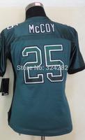 2014-15 Stitched - 25 LeSean McCoy Women's Drift Fashion Green Elite Football Jerseys size: S-XXL