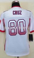 2014-15 Stitched - 80 Victor Cruz Women's Drift Fashion White Elite Football Jerseys size: S-XXL