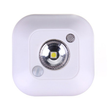 New Arrival Mini Wireless Infrared Motion Sensor Ceiling Night Light Battery Powered Porch Lamp(China (Mainland))