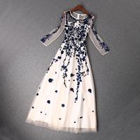 2014 news high quality  Embroidery beading sequins mesh dress women dress