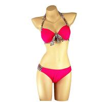 2015 Sexy Brand Push Up Patchwork Bathing Suit Bikini Sets Fashion Leopard Print Women Bikini Swimwear