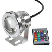 HOT  Waterproof LED Flood Light bulb Lamp 10W  RGB LED underwater light DC12V  Warm White/White  high power   led floodlight