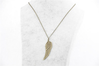 fashion simple necklace DIY Vintage ancient bronze wings pendant necklace for boys and girls best good gift
