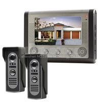 DIY 1 Monitor 2 Cameras Wired Video Door Phone System Home Security Entry 2 Way Intercom IR Cameras SY801M21