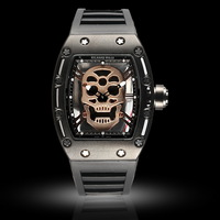 2015 Free shipping NEW Steampunk Military Sport Watch Men Wristwatch Black Color
