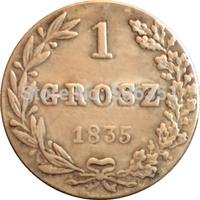 Poland 1835 1 Grosz coins copy Free shipping