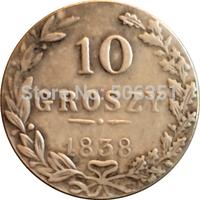 Poland 1838 10 Grosz coins copy Free shipping