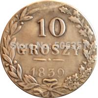 Poland 1839 10 Grosz coins copy Free shipping