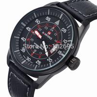 2015 New Brand NAVIFORCE Fashion Men Sports Watches Men's Quartz  Clock Man Leather Strap Military Army Waterproof Wrist watch