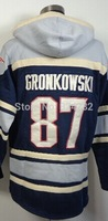 2014-15 Stitched 87  Rob Gronkowski  Blue  Football  Hoodies Sweatshirt Winter Jacket Size:48-56