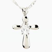 Womens Jewellery Pendant Necklace-Artificial Diamond Cross Pendant Platinum Plated Fashion Necklaces for Women 2014-T0013
