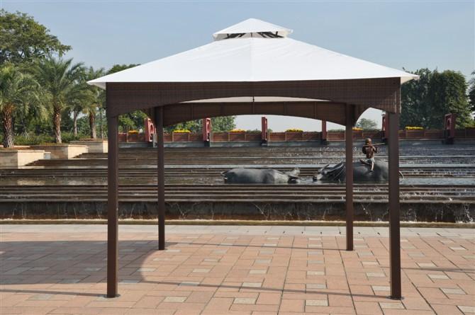 Online kopen wholesale tuinpaviljoen uit china tuinpaviljoen groothandel - Leuningen smeedijzeren patio ...