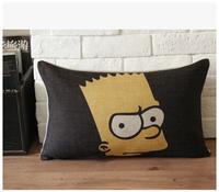 Modern retro nostalgia Simpson trade IKEA pillow pillow cushion lumbar pillow car pillow core containing