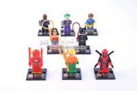 Super Heroes Nick Fury Batman Black widow Wonder woman Flash Deadpool minifigure  Building Block Compatible With Lego