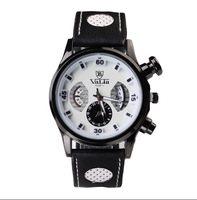 Drop shipping VaLia Watches Men Round Dial Analog Display Stylish Wrist Watch with Movement Alloy Case Men Wristwatches