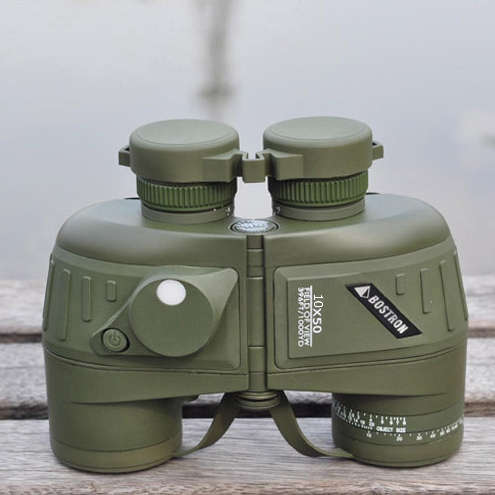 10X50 Shockproof Camouflage Optics Binocular Telescope with Compass Waterproof High Power Binoculars Telescope for Hunting(China (Mainland))