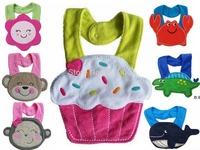 2015 new Baby Bibs Burp Cloths Lunch Bibs Animals Cotton Saliva Towel waterproof Infant Bibs