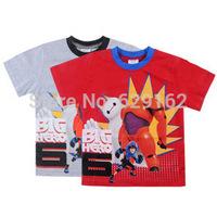 Wholesale 2015 New Big Hero 6 Baby Boy Cotton T-shirt. Children Cartoon Summer Clothing. Kids Baymax Short Sleeve Top Tees