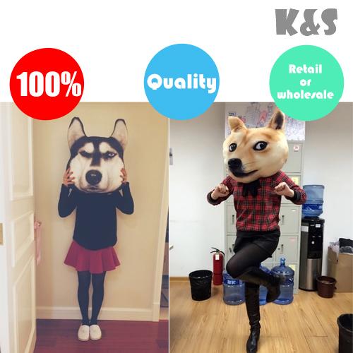 Varejo ou atacado dos desenhos animados simulação 3D impresso cão Samoyed rouca Akita cochilo travesseiro almofada e lance travesseiro lavável(China (Mainland))